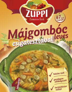 Zuppi -Májgombóc leves csigatésztával