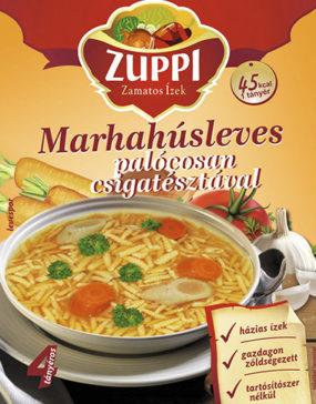 Zuppi -Marhahúsleves palócosan csigatésztával