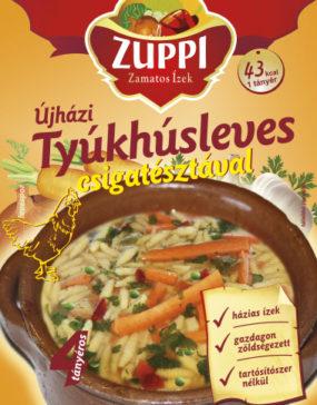 zuppi-Újházi tyúkhúsleves csigatésztával